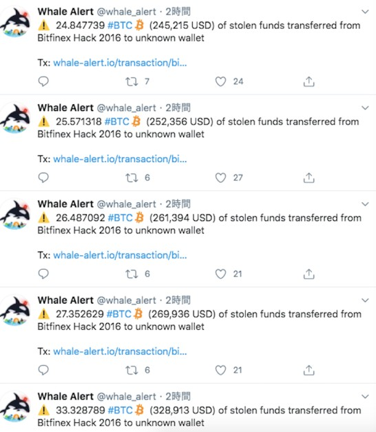Move to hacking outflow Bitcoin, virtual currency equivalent to 420 million yen moves = Whale Alert 25